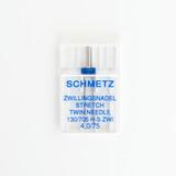 Schmetz Stretch Twin Needle - Size 4.0/75 | Blackbird Fabrics