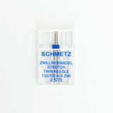 Schmetz Stretch Twin Needle - Size 2.5/75 | Blackbird Fabrics