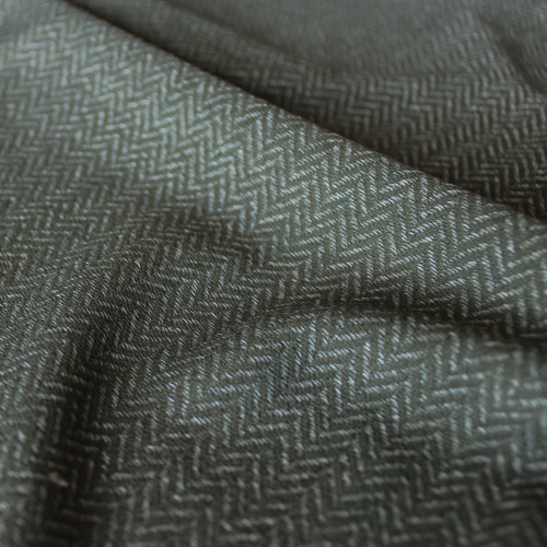 Peached Herringbone Knit - Heather Moss | Blackbird Fabrics