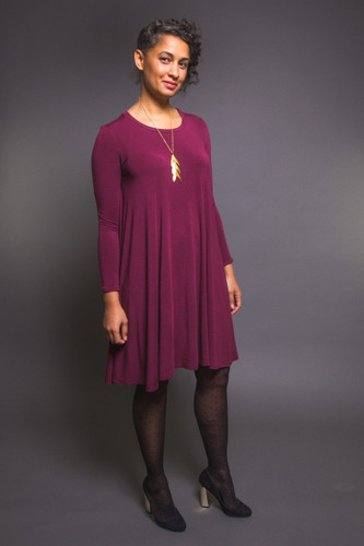 Ebony Knit Dress & T-Shirt by Closet Case Patterns | Blackbird Fabrics