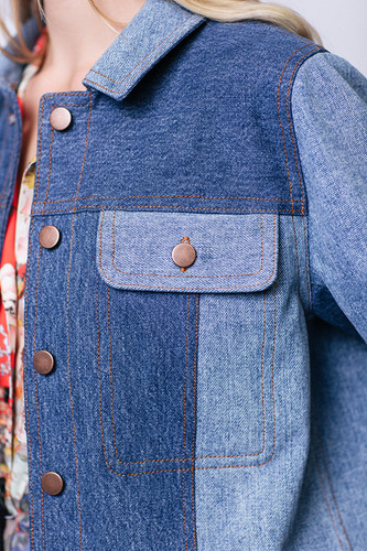 Maisa Denim Jacket by Named Clothing | Blackbird Fabrics