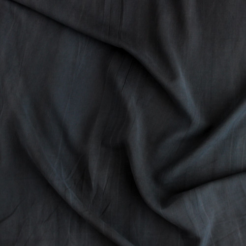Sandwashed Rayon - Black   Blackbird Fabrics