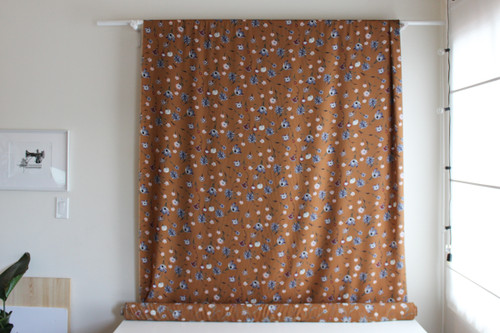 Floral Polyester Crepe - Camel | Blackbird Fabrics