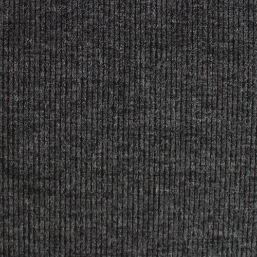 Melange Rib Sweater Knit - Charcoal | Blackbird Fabrics
