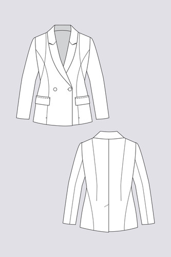 Aava Tailored Blazer by Named Clothing | Blackbird Fabrics