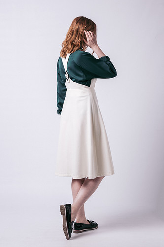 Amber Pinafore Dress by Named Clothing | Blackbird Fabrics