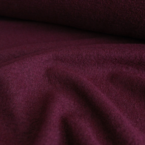 Boiled Wool & Viscose - Burgundy | Blackbird Fabrics