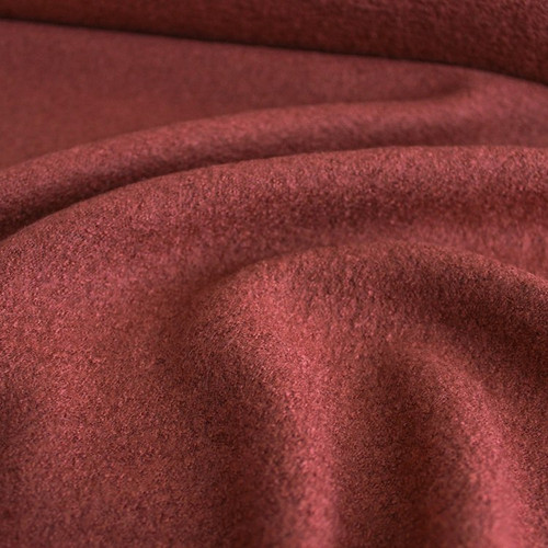 Boiled Wool & Viscose - Red Clay | Blackbird Fabrics