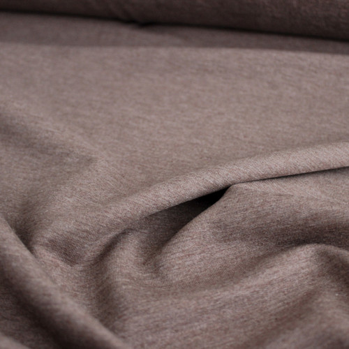 Bamboo & Cotton French Terry - Heather Mocha - 1/2 meter