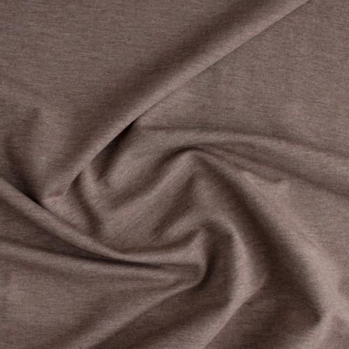 Bamboo & Cotton French Terry - Heather Mocha | Blackbird Fabrics