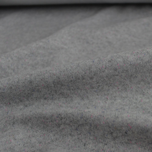 Moon Dust Double Knit - Grey with Pink Speckle | Blackbird Fabrics