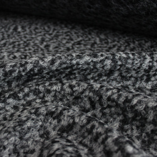 Wool Blend Boucle Coating - Medium Grey | Blackbird Fabrics