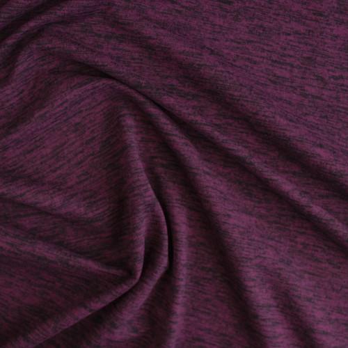 Space Dyed Athletic Knit - Maroon | Blackbird Fabrics