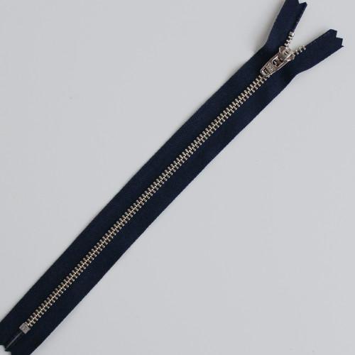 Jeans Zipper - Navy with Nickel | Blackbird Fabrics