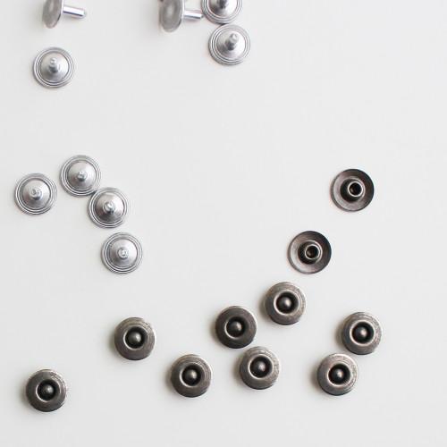 Jeans Rivets - Antique Silver - Set of 10   Blackbird Fabrics