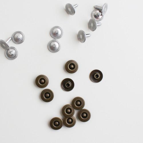 Jeans Rivets - Antique Brass - Set of 10   Blackbird Fabrics
