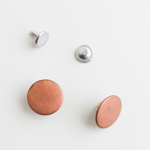 Jeans Buttons - Copper - Set of 2 | Blackbird Fabrics