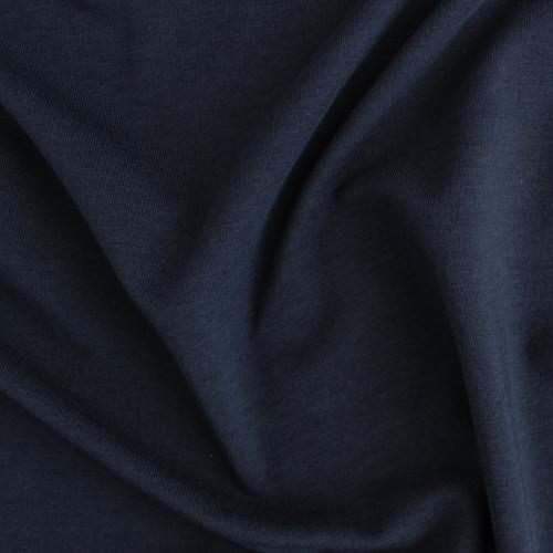Tencel & Organic Cotton Jersey - Navy | Blackbird Fabrics