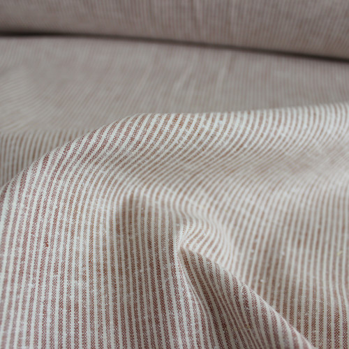 Hemp & Organic Cotton Micro Stripe - Sandstone | Blackbird Fabrics