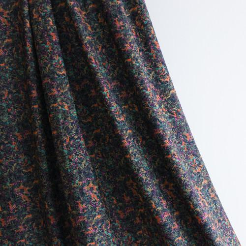 Abstract Nylon Swim Tricot - Black/Multicolour | Blackbird Fabrics