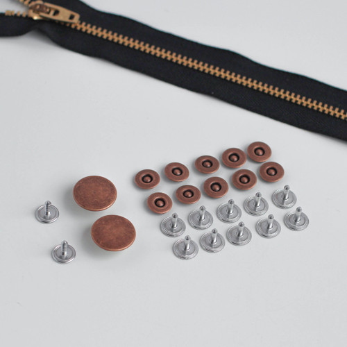 Jeans Hardware Kit - Antique Copper | Blackbird Fabrics