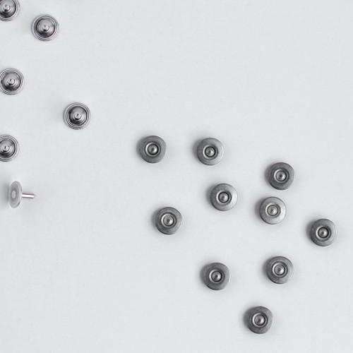Jeans Rivets - Silver - Set of 10 | Blackbird Fabrics