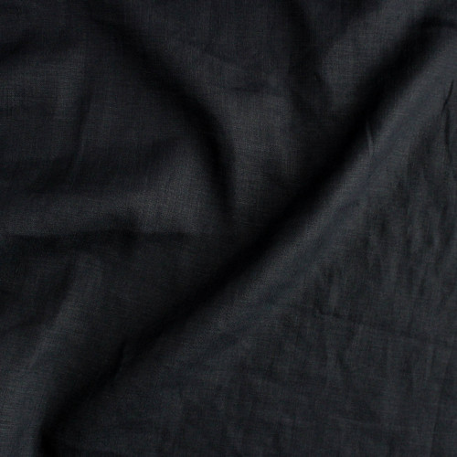 Mid-Weight Linen - Black | Blackbird Fabrics