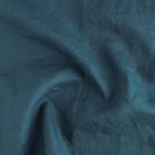 7oz Linen - Navy Teal | Blackbird Fabrics