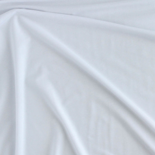 Tencel & Organic Cotton Jersey - White   Blackbird Fabrics