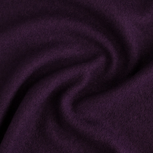 Boiled Wool & Viscose - Aubergine | Blackbird Fabrics