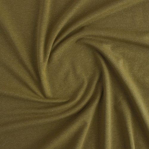 Hemp & Organic Cotton Jersey - Military | Blackbird Fabrics