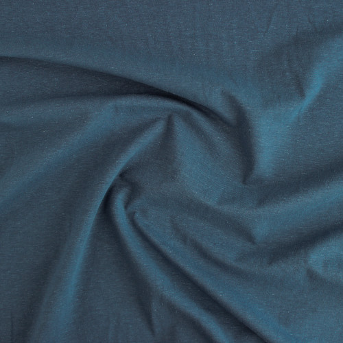 Hemp & Organic Cotton Jersey - Denim | Blackbird Fabrics
