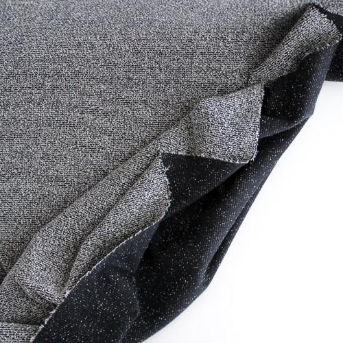 Bouclé Sweater Knit - Dark Grey/White | Blackbird Fabrics