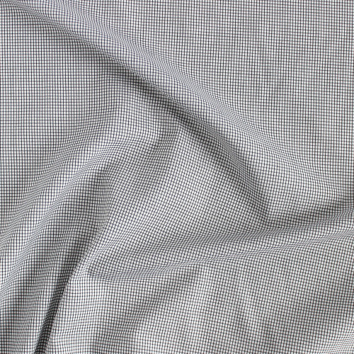Tattersall Cotton Shirting - Black/White | Blackbird Fabrics