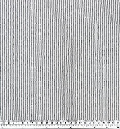 Oxford Stripe Cotton Shirting - Black/White   Blackbird Fabrics