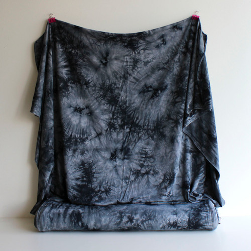 Bamboo Tie Dye Knit - Grey | Blackbird Fabrics