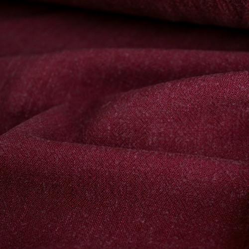Viscose Linen Noil - Burgundy | Blackbird Fabrics