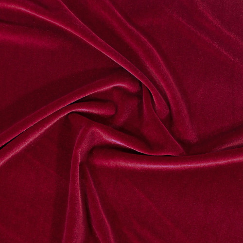 Stretch Velvet - Red | Blackbird Fabrics
