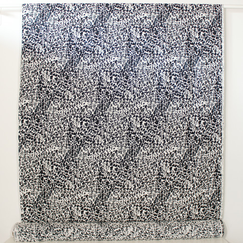Animal Print Viscose Challis - White/Black/Grey | Blackbird Fabrics