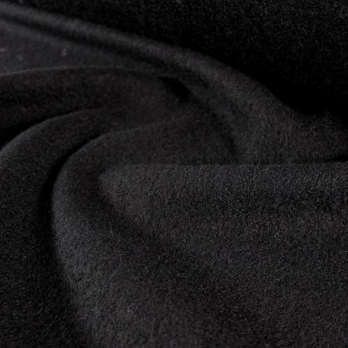 Boiled Wool Coating - Black | Blackbird Fabrics