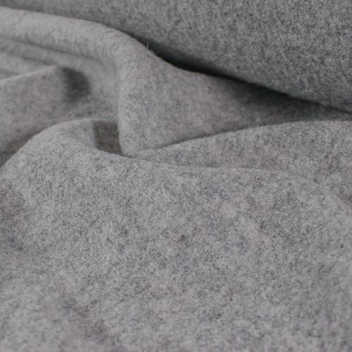 Boiled Wool Coating - Light Heather Charcoal | Blackbird Fabrics