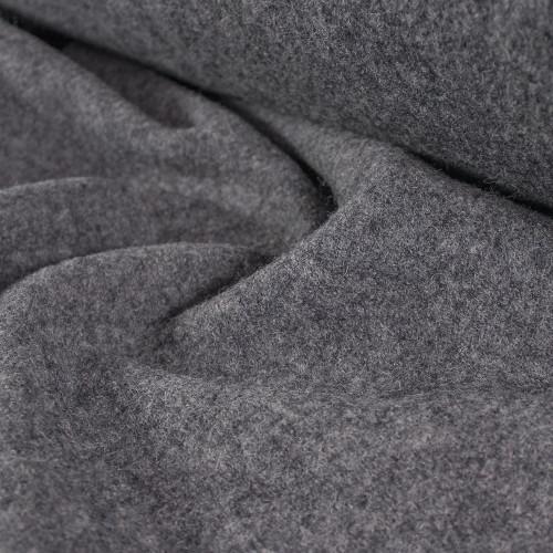 Boiled Wool Coating - Heather Charcoal | Blackbird Fabrics