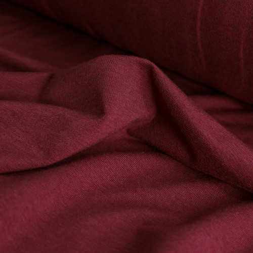 Tencel & Organic Cotton Jersey - Cabernet   Blackbird Fabrics