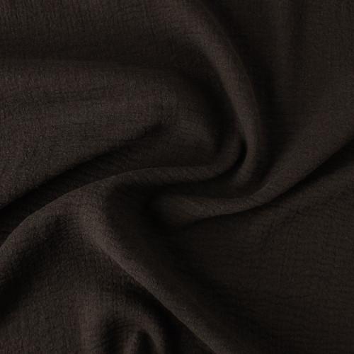 Cotton Triple Gauze - Black - 1/2 meter