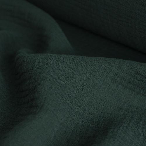 Cotton Triple Gauze - Peacock  | Blackbird Fabrics