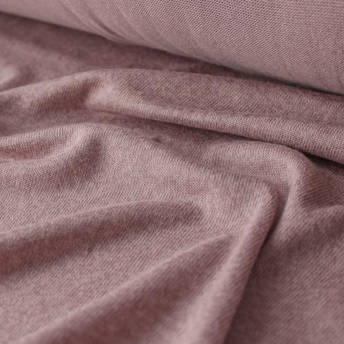 Tencel, Cotton, & Modal Sweater Knit - Mellow Mauve | Blackbird Fabrics