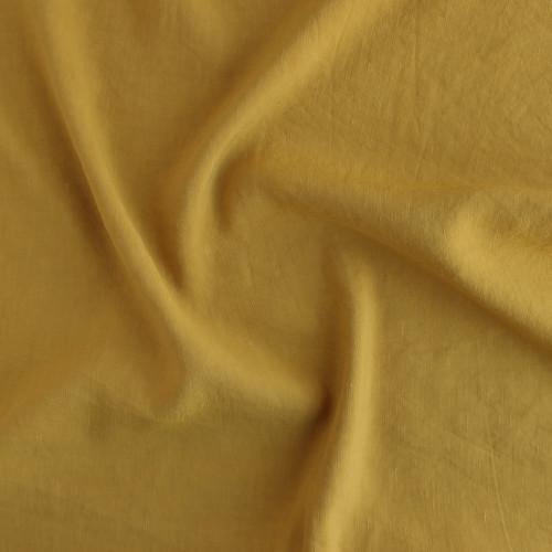Viscose Linen Slub - Mustard | Blackbird Fabrics