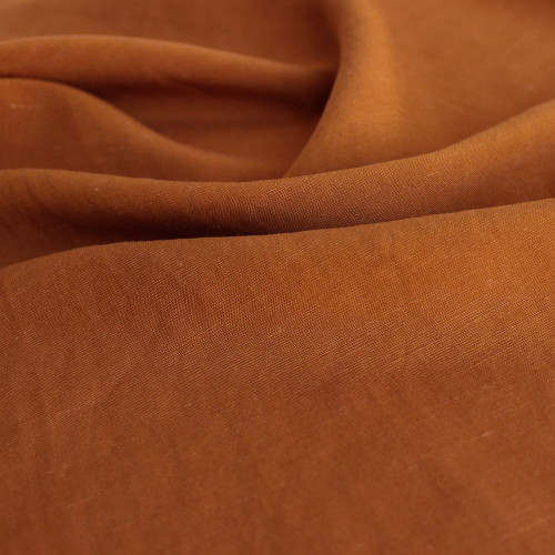 Viscose Linen Slub - Burnt Orange | Blackbird Fabrics