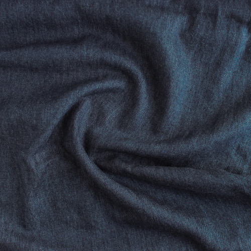 Medium Weight Hemp & Organic Cotton Denim - Deep Indigo Blue | Blackbird Fabrics