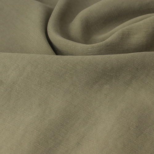 Cupro Linen & Tencel Slub - Light Olive | Blackbird Fabrics